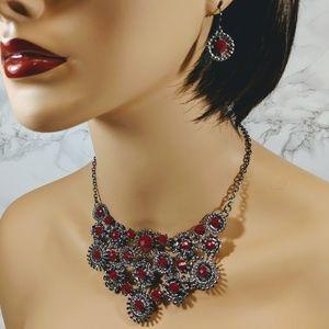 Park Lane Naomi Ruby Red Jewelry Set